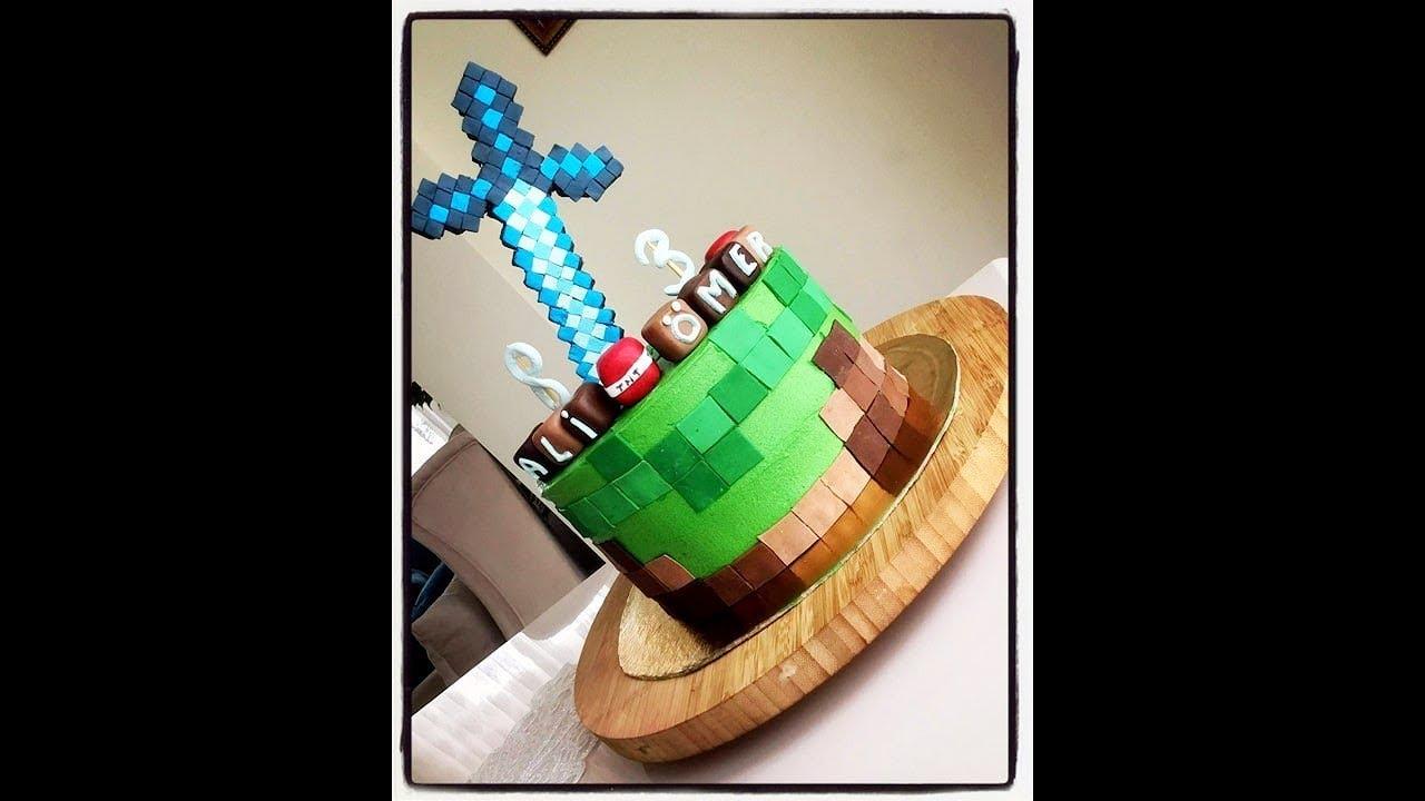 Minecraft Pasta ( ev yapımı doğum günü pasta )