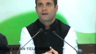 Rahul Gandhi embarrassed at press conference, media laughs