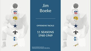 Jim Boeke: Football Offensive Tackle