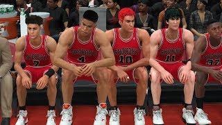 NBA 2K18 Slam Dunk Mod - SHOHOKU vs Raptors