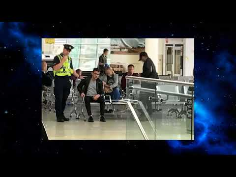 Jonathan Rhys Meyers 'completely out of it' at Dublin Airport before being escorted away by security