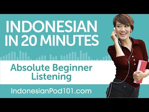 20 Minutes of Indonesian Listening Comprehension for Absolute Beginner