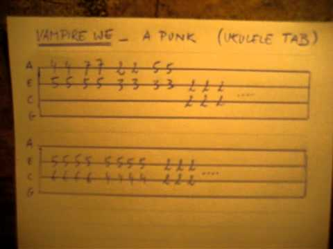 Vampire WE A-Punk Ukulele TAB - YouTube