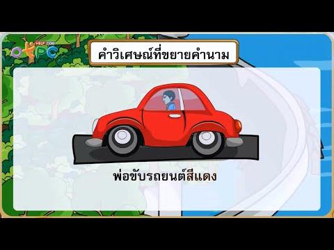 คำวิเศษณ์ - สื่อการเรียนการสอน ภาษาไทย ป.3