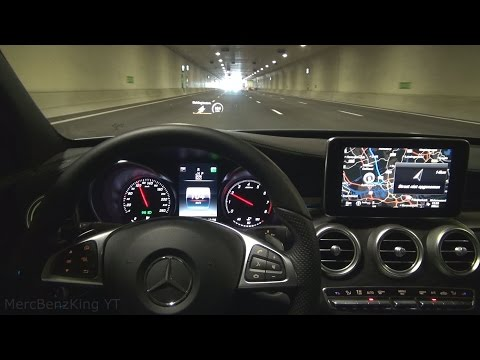 Mercedes C 2016 HEAD UP DISPLAY with DISTRONIC PLUS STEERING ASSIST and LANE KEEPING ASSIST