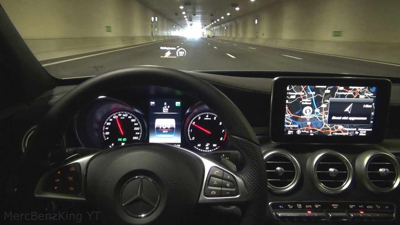 Mercedes Benz Gls >> Mercedes C 2016 HEAD UP DISPLAY with DISTRONIC PLUS STEERING ASSIST and LANE KEEPING ASSIST ...