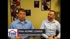 FHA HOME LOANS 2017