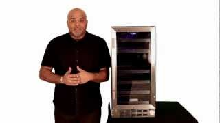 Edgestar 26 Bottle Dual Zone Stainless Steel Built-in Wine Cooler- Cwr262dz