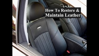 How To Restore Or Maintain Mercedes Leather
