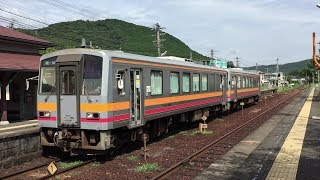 JR西日本 津山線のキハ120系 普通気動車 【津山線・野々口駅構内】