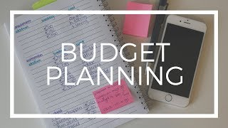 HOW I PLAN MY MONTHLY BUDGET AS A STUDENT