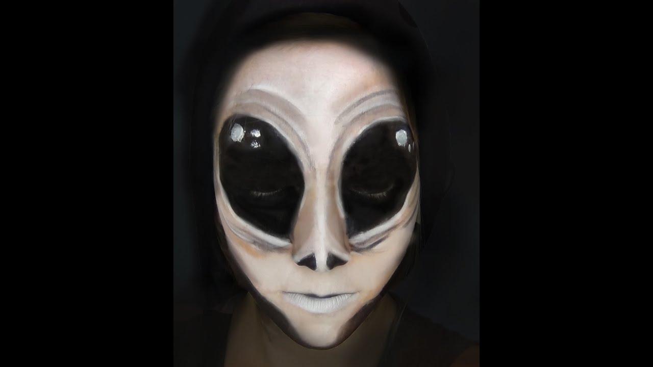 alien halloween scary makeup tutorial primp powder pout