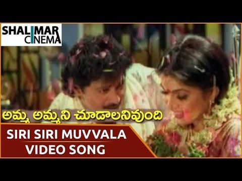 Amma Ammani Chudalani Undhi Movie || Siri Siri Muvvala Video Song || Vinod Kumar