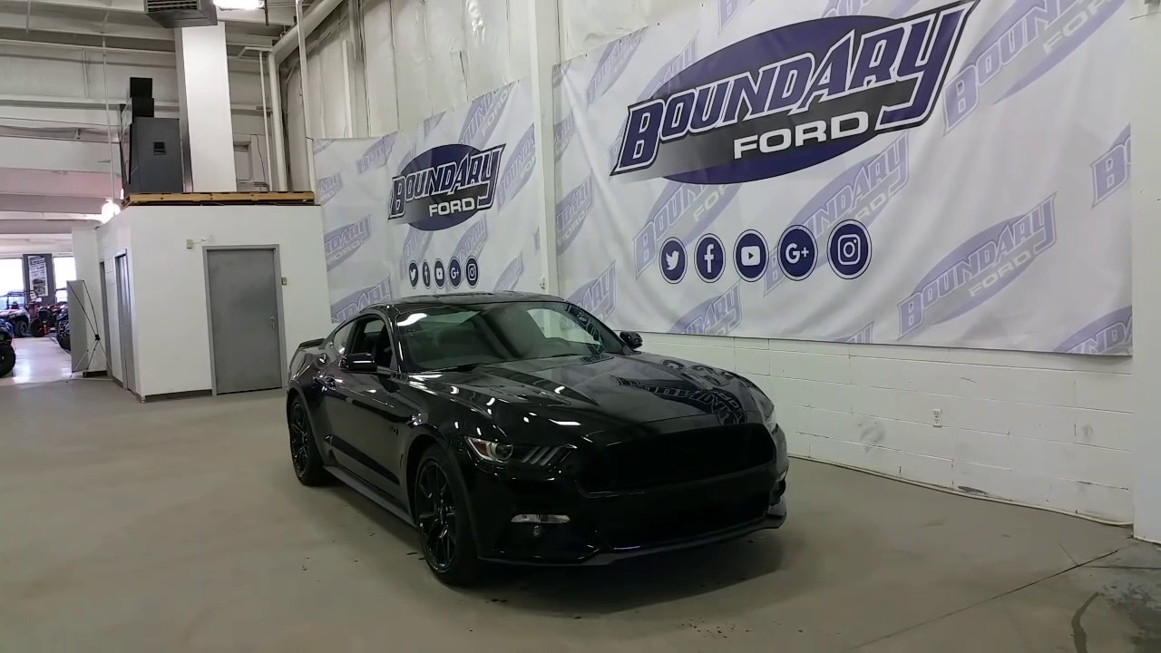 2017 Ford Mustang Gt W Black Out Package Hid Lights 5 0l V8 Review Boundary