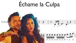 Échame la Culpa - violin score - partitura para violín - Luis Fonsi y Demi Lovato