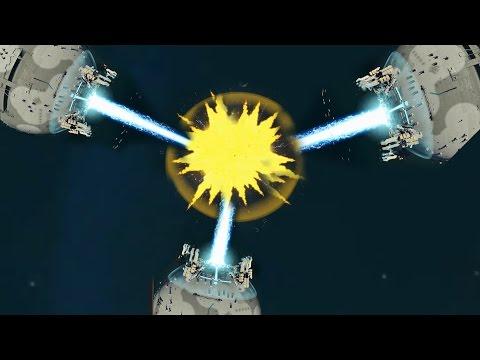 Planetary Annihilation - 3x Death Stars | Annihilaser vs Annihilaser vs Annihilaser [1080p/HD]