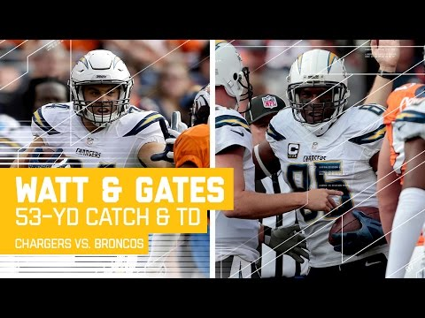 Philip Rivers Finds Derek Watt for 53 Yards & Antonio Gates