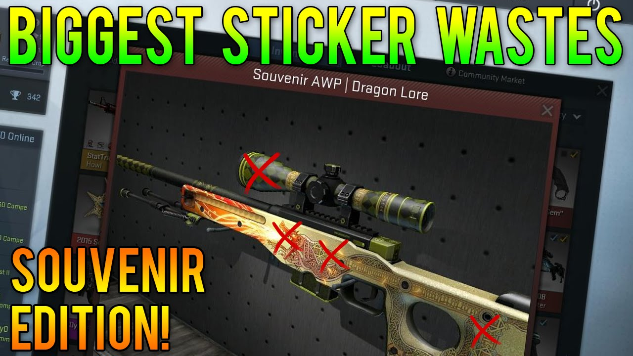 Cs Go Biggest Sticker Wastes Souvenir Edition