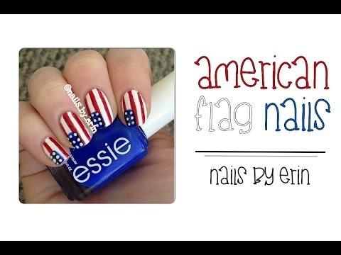 Easy American Flag Nails   NailsByErin