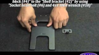 MNT TV061 LG DVD Wall mount with Glass Shelf Assembly Instructions