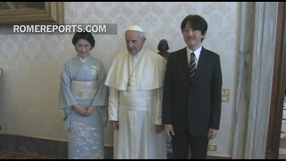 The Pope meets with the Prince and Princess of Japan