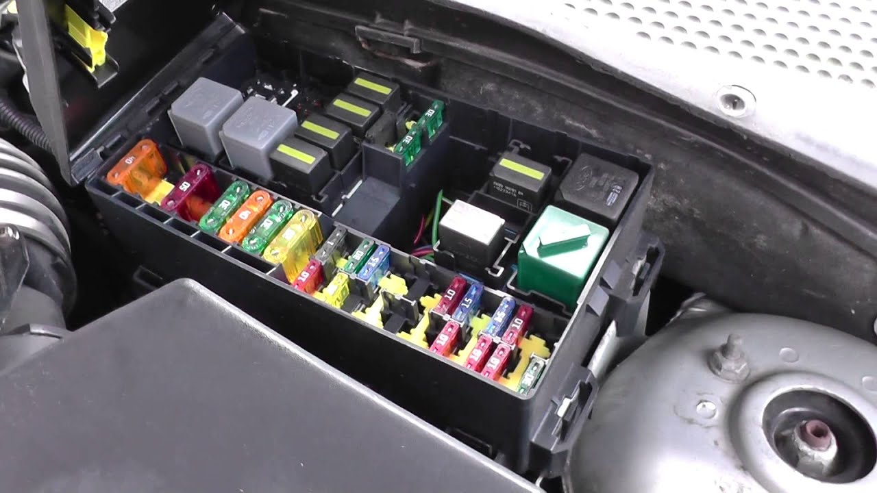 ford focus fuse relay box location video