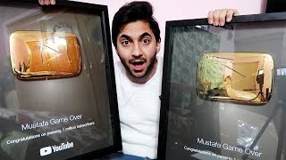 اول شخص بالعالم يستلم درعين ذهب من اليوتيوب !!؟
