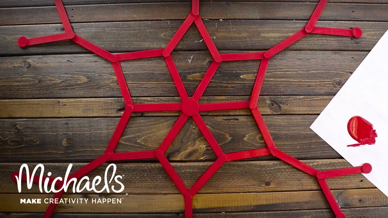 Christmas Wall Decor Michaels : Holiday wall decor how to make a popsicle stick
