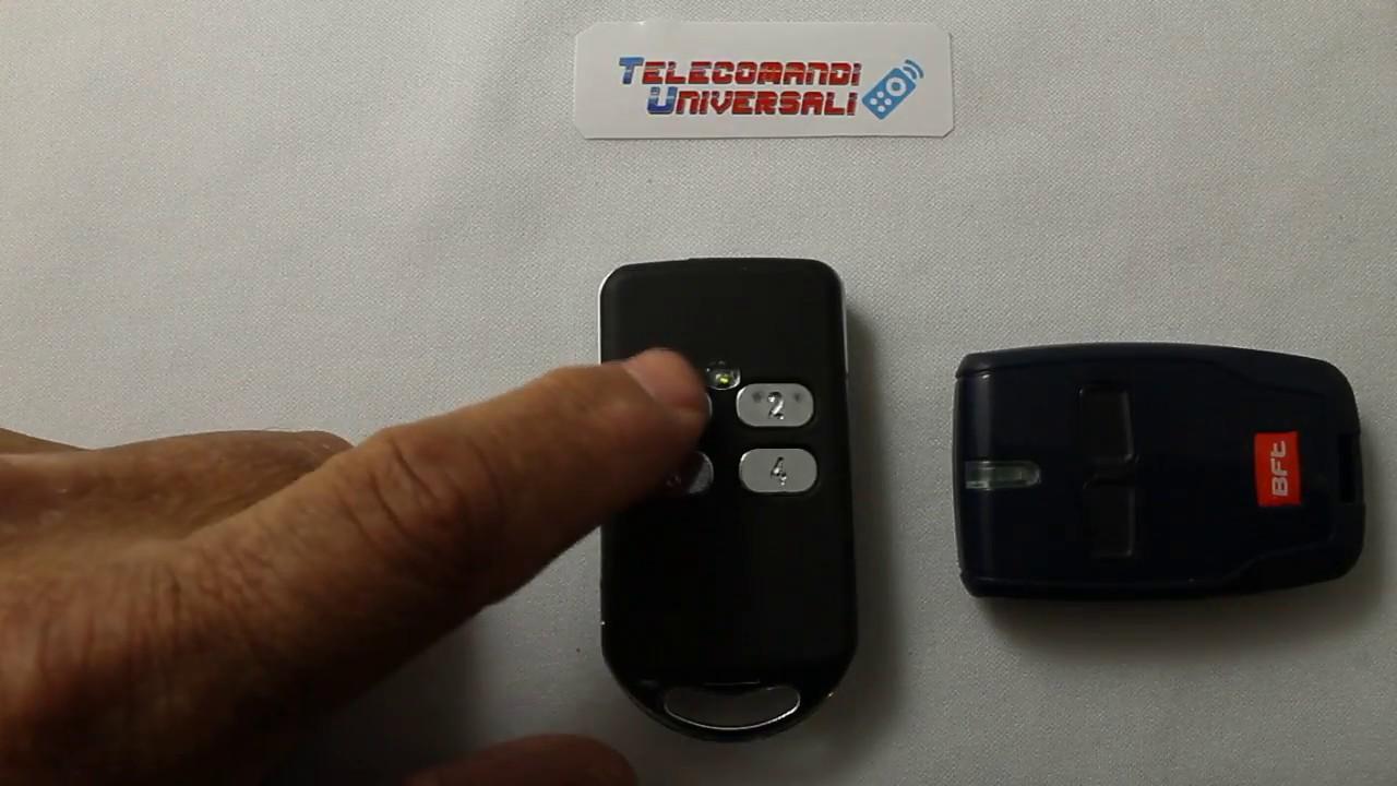 come programmare telecomando bft mitto su un telecomando