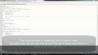 HTML PHP CSS MYSQL TUTORIAL - Make a blog in one hour