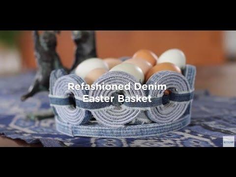 Refashioned Denim Easter Basket