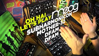 Moog Subharmonicon Explained, then LET'S JAM with Mother-32 + 2xDFAM + Eventides!