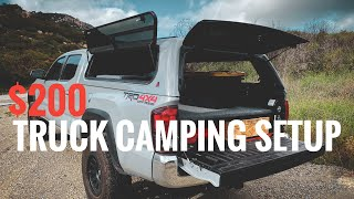 Overland Truck Camping Seтup for UNDER $200 Dollars!!! | Toyota Tacoma