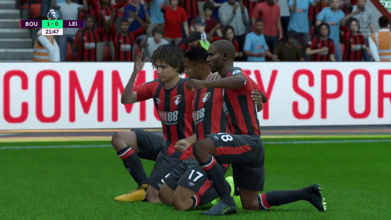 Bournemouth Vs Leicester City Fifa 18 Epl Simulation