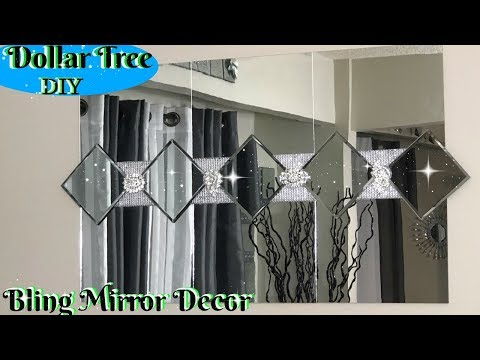 DIY HOME DECOR 2019 | DOLLAR TREE DIY GLAM MIRROR DECOR IDEAS