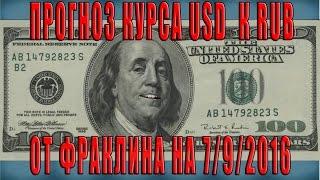Прогноз курса доллара к рублю на 7 сентября 2016