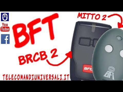 Come Programmare Un Telecomando Bft B Rcb 2 Youtube
