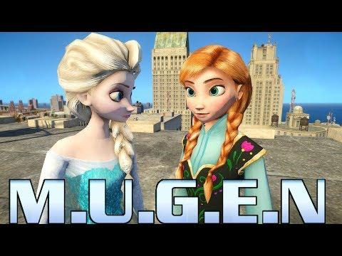MUGEN - Elsa Vs Anna (Disney Frozen)