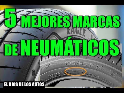 5 MEJORES MARCAS DE NEUMÁTICOS