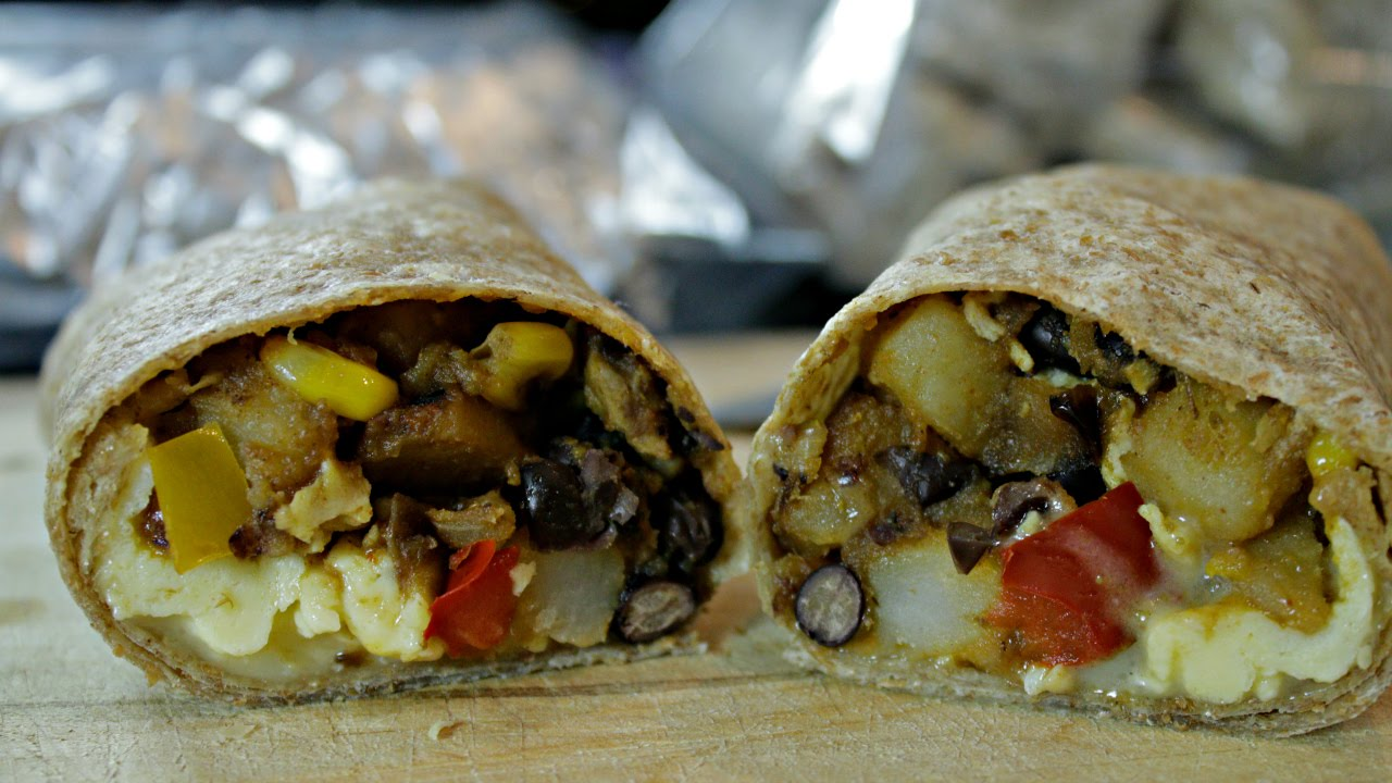 Breakfast Burrito Recipe Freeze And Take On The Go Youtube