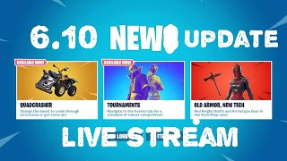 Fortnite - Season 6 - Update 6.1 New Features - Finding The New Quad Crasher - Live