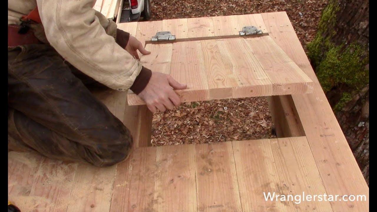 Treehouse Secret Trap Door | 15 Wranglerstar - YouTube
