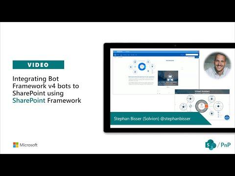 Community Demo - Integrating Bot Framework V4 Bots To SharePoint Using SharePoint Framework