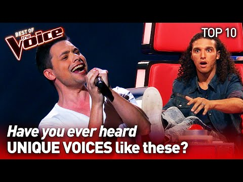 Incredibly UNIQUE VOICES on The Voice | TOP 10