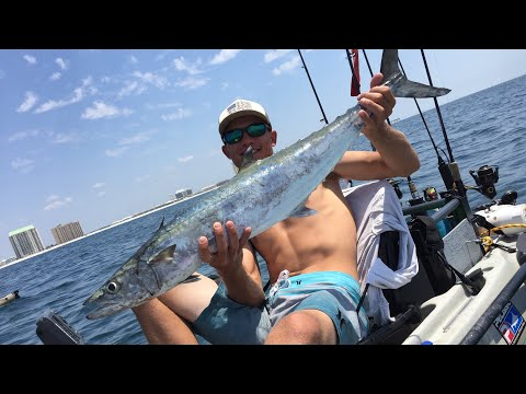 Offshore Kayak Fishing King Mackerel ,Mahi Mahi and my PB Spanish Mackerel