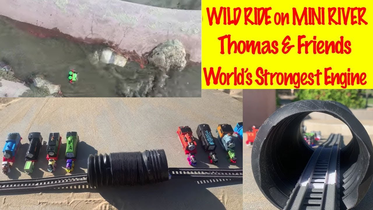 WILD RIDE on MINI RIVER Thomas & Friends | World's Strongest Engine | Toy Trains for Kids
