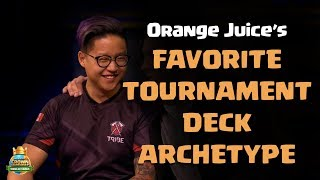 Orange Juice's Favorite Tournament Deck Archtype - CCGS World Finals Interview