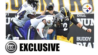 Steelers Mason Rudolph Knocked Out Cold By Ravens