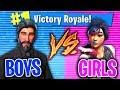 BOYS 1v1 GIRL GAMERS IN FORTNITE PLAYGROUND MODE!!