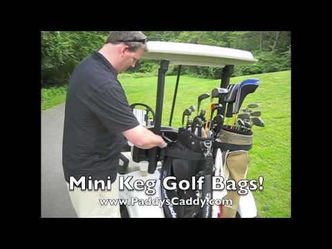 CaddyS like Golf Bag pours beer using mini kegs! - YouTube on